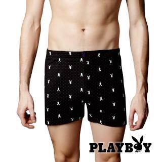 【PLAY BOY】高級彈性紗零著感平口褲(透氣 舒適 平口褲)