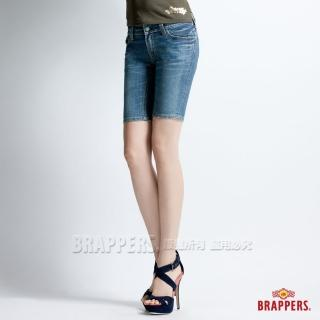 【BRAPPERS】女款 新美腳二代系列-合身五分褲(淺藍)
