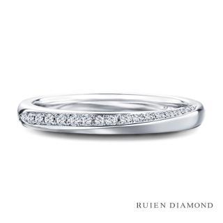 【RUIEN DIAMOND 瑞恩鑽石】鑽石 結婚對戒 戒圈(女款 18K白金)