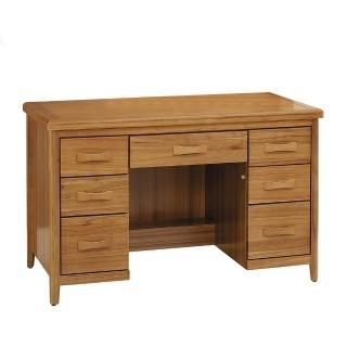 【H&D】愛莉絲柚木4.2尺書桌(柚木色 4.2尺 書桌)