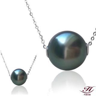 【禾美珠寶】天然南洋黑珍珠項鍊BS077(18K金)