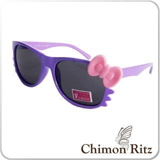 【Chimon Ritz】帥氣貓兒童太陽眼鏡-紫(墨鏡 抗UV 防曬)
