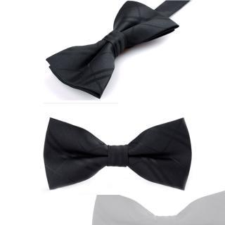 【拉福】亂入黑底紋精工領結新郎結婚領結糾糾(黑色)