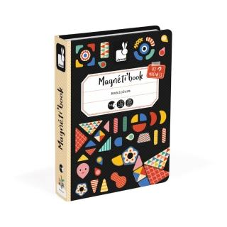 【法國Janod】磁鐵遊戲書-幾何創意拼