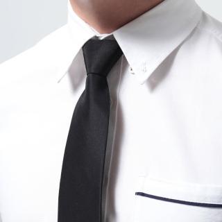 【Ve Vitalise】素面自動領帶(窄版黑色)