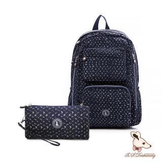 【冰山袋鼠】楓糖瑪芝-大容量附插袋後背包+零錢包2件組(Z060-1)