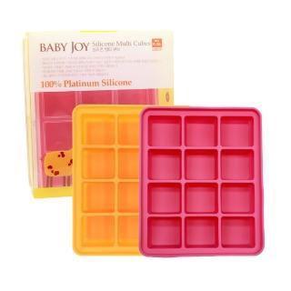 【韓國BABAY JOY】鉑金矽膠副食品製冰盒 12格(副食品分裝盒 保存盒 冰磚)