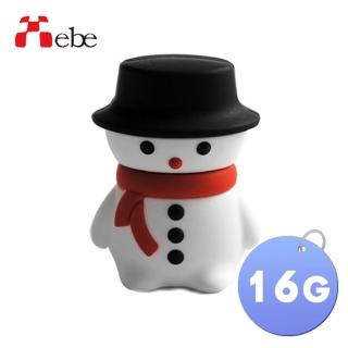 【Xebe集比】聖誕雪人造型隨身碟16G