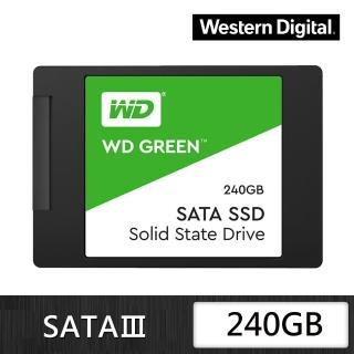 【WD 威騰】綠標 240GB 2.5吋 7mm SATA 固態硬碟(WDS240G2G0A)