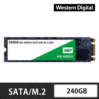【WD 威騰】綠標 240GB M.2 2280 SATA 3D NAND 固態硬碟(WDS240G2G0B)