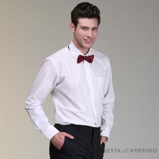 【ROBERTA 諾貝達】進口素材 台灣製 線條細節長袖襯衫(白色)