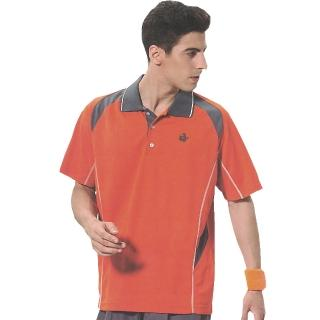 【SINA COVA】男女運動休閒吸濕排汗短POLO衫(橘)