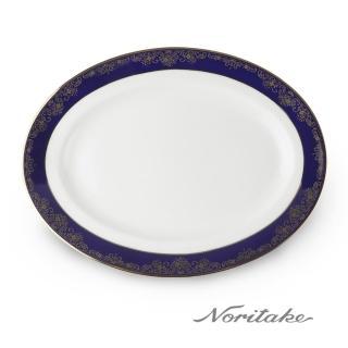 【NORITAKE】藍色樂章橢圓盤29cm(日本皇室御用瓷器品牌)