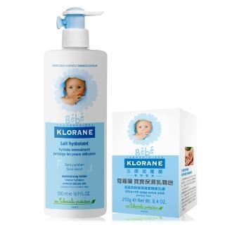 【蔻蘿蘭寶寶】保濕洗護2入組(乳霜皂250g+身體乳500ml)