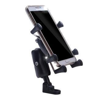 【OMyCar】六爪機車手機架4-6吋手機短臂款全配組(附高彈性固定帶 摩托車 踏板車 電瓶車皆適用)
