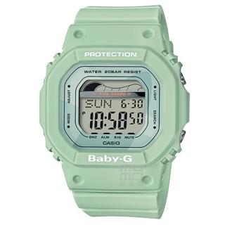 【CASIO 卡西歐】卡西歐 Baby-G 潮汐電子錶-綠(BLX-560-3)