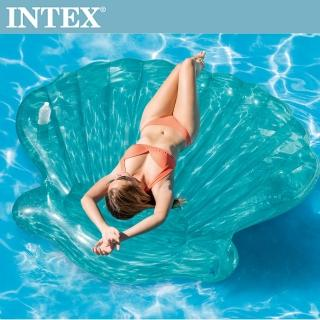 【INTEX】美人魚貝殼浮排-杯架設計(57255)