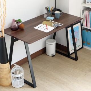 【EASY HOME】防潑水/耐磨加寬電腦工作桌(胡桃色)