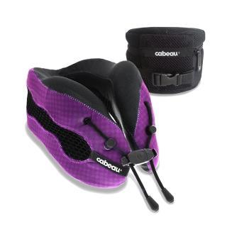 【CABEAU】酷涼記憶棉頸枕2.0-科幻紫