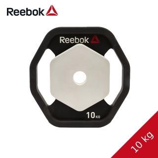 【REEBOK】八角PU槓片-10kg兩片