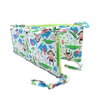 【La Millou】拉米洛100%純棉床圍護欄(歡樂拉拉猴-香草綠薄荷)