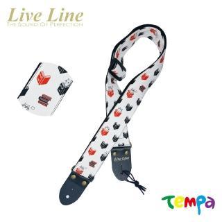 【Tempa】Live Line 日本製高質感吉他背帶-讀書的貓