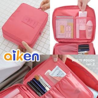 【aiken 艾肯】旅行收納洗漱包(防水 化妝包 旅行包)