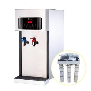 【德克生活】T2-2型桌上型冷熱飲水機(贈5道式RO逆滲透+免安裝費)