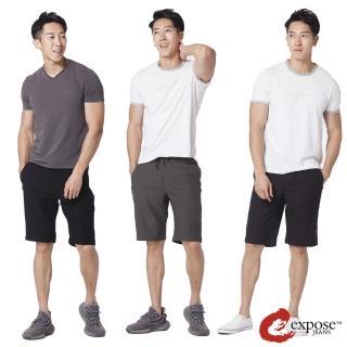 【Expose】超彈力鬆緊腰綁帶短褲(新款上市)