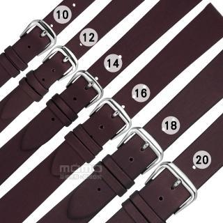 【Watchband】各品牌通用 質感別緻 百搭款 柔軟 真皮錶帶(酒紅色)