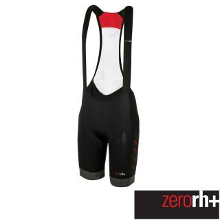 【ZeroRH+】義大利專業 Supremo AirX 男仕競賽級吊帶自行車褲(黑/紅 ECU0513_930)