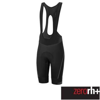 【ZeroRH+】義大利專業Absolute AirX 男仕競賽級吊帶自行車褲(黑色 ECU0517_R90)