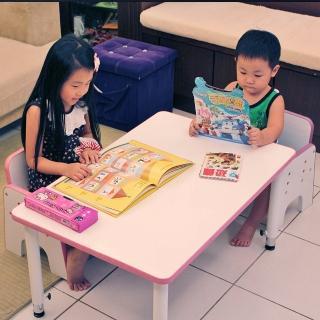【C&B】小童遊戲成長桌椅組(同色系一桌+二椅)