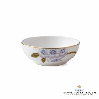 【Royal Copenhagen 皇家哥本哈根】骨瓷碗14cm(芙蘿拉花神-杜鵑花)