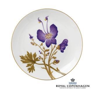 【Royal Copenhagen 皇家哥本哈根】骨瓷盤27cm(芙蘿拉花神-三色堇)