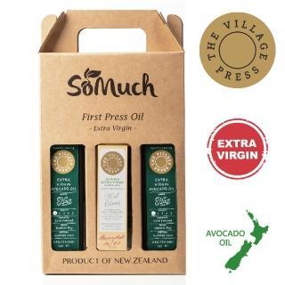 【壽滿趣- 紐西蘭廚神系列】頂級冷壓初榨黃金酪梨油x2/地中海柑橘風味橄欖油(250ml 三瓶禮盒裝)