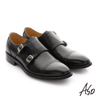 【A.S.O 阿瘦集團】職人通勤 牛皮鬆緊帶皮鞋(黑色)