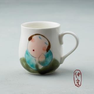 【吳仲宗】胖太太系列 - 馬克杯 - 木蘭白(薄紗藍衣)