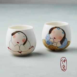【吳仲宗】胖太太系列 - 百合杯 - 玉潤珠圓(雙件組)