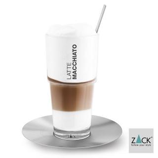 【德國 ZACK】時尚精品  拿鐵摩卡咖啡杯盤組+湯匙《歐型精品館》(316不鏽鋼18/10)