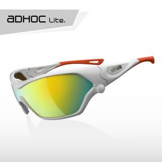 【aDHOC Lite II】運動太陽眼鏡(白橘色系)