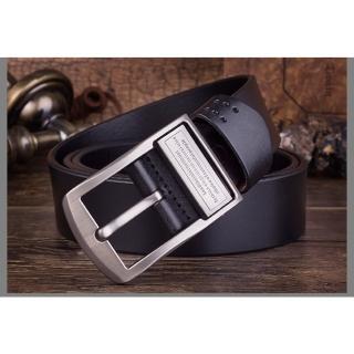 【ZK】經典款穿針式牛帶皮帶黑色 附ZK2010 打孔針(ZK2001BK黑色/BR咖啡色)
