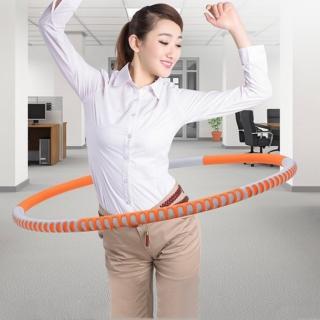 【PUSH!】運動用品拼接式鋅合金鋼管泡棉可調節加重設計呼拉圈瘦腰圈健身器材加重版(H26)