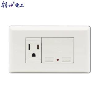 【朝日電工】雙USB充電器附接地單插座組(埋入式USB充電接地插座)