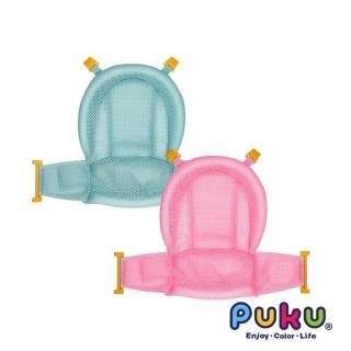 【PUKU 藍色企鵝】護頭式沐浴網(海豚藍/珊瑚粉)