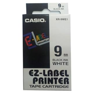 【CASIO 卡西歐】標籤機專用色帶-9mm白底黑字(XR-9WE1)
