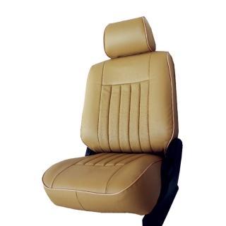 【葵花】量身訂做-汽車椅套-日式合成皮-開運條紋-A款(轎車款第1+2排)