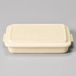 【Meister Hand】TOOLS 方形烤盤 附蓋 26x19cm 米白
