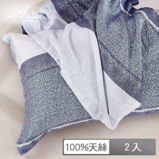 【A-nice】100%天絲【抗菌透氣排濕】印花加框枕套(一對兩入 / 多款任選 / TE)
