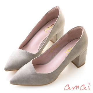 【amai】就是一雙好穿的粗跟鞋(灰)